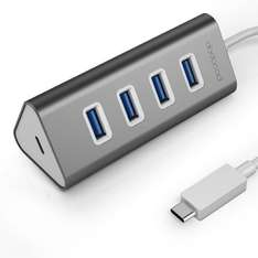 dodocool USB 3.0 Type-C Charging Hub, Typ C auf 4 Port USB 3.0 Hub Adapter mit USB-C Charging Port für das neue MacBook