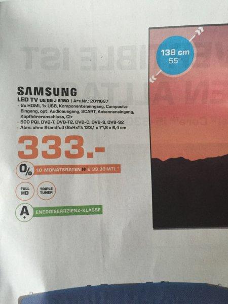 Samsung UE-55J6150 TV für 333 @ Saturn Trier, Saarbrücken