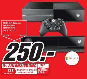 [Lokal Mediamarkt Stadthagen) Xbox One 500 GB + Kinect (Neuware) für 250,-€