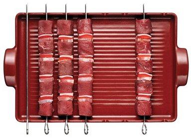 Emile Henry Grillform aus BBQ®-Keramik + 8 Spieße rot für 31,90€ inkl VSK @vente-privee
