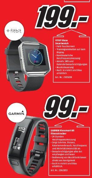 FITBIT Blaze Smartwatch oder Garmin Vivosmart HR Fitnesstracker / Lokal MediaMarkt Bad Dürrheim