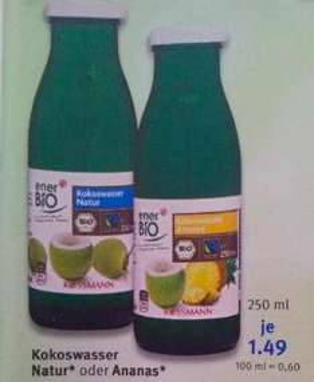 [Rossman, KW15] BIO Kokoswasser nur 0,43€/100ml & BIO Kokosöl nur 1,44€/100g (Angebot + Coupon) Nur heute!