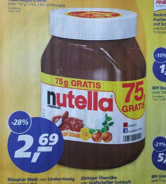 [real,-] Nutella 825g für 2,69€ (1kg = 3,26€) - 18.04. bis 23.04.