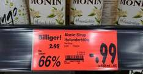 [Kaufland Mannheim] Monin Sirup Holunderblüte - 66 %