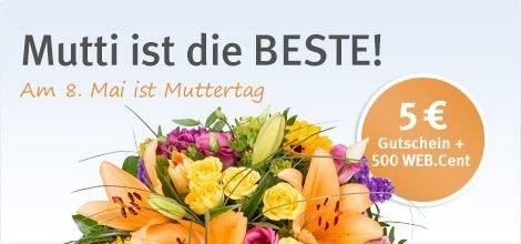[WEB.Cent] Gutscheine und WEB.Cent für Blumen (Muttertag)
