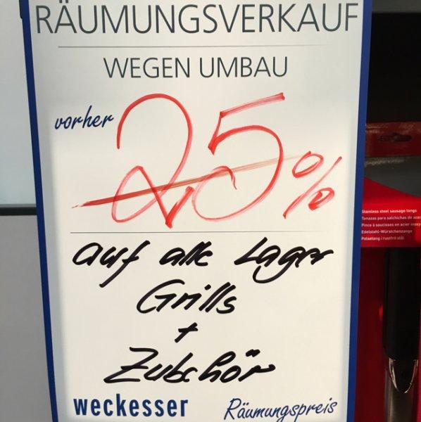 [Wiesloch] Weckesser 25% auf Weber Grill & Zubehör