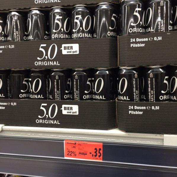 5,0 Bier bei Kaufland in Bergkamen-Rünthe