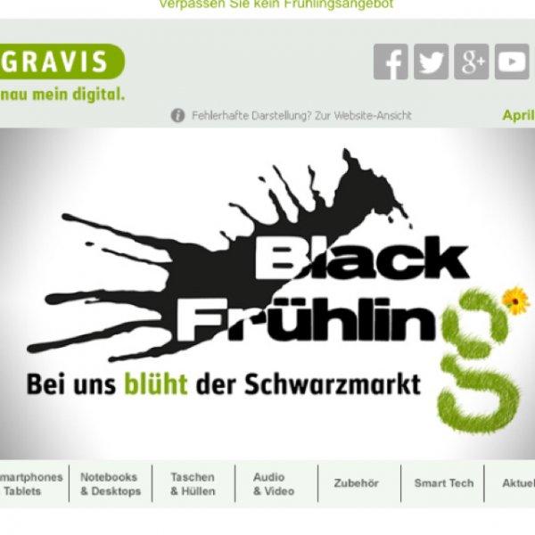 Gravis Black Frühling Aktion