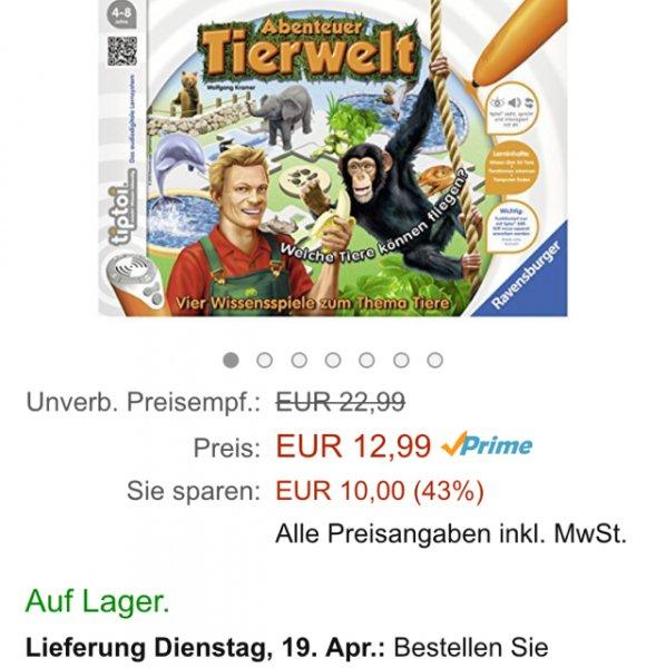 [Amazon] Tip Toi Tierwelt für 12,99€ mit Prime, statt ca. 18€