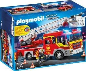 [Real Online]  Playmobil City Action - Feuerwehr-Leiterfahrzeug mit Licht und Sound (5362)