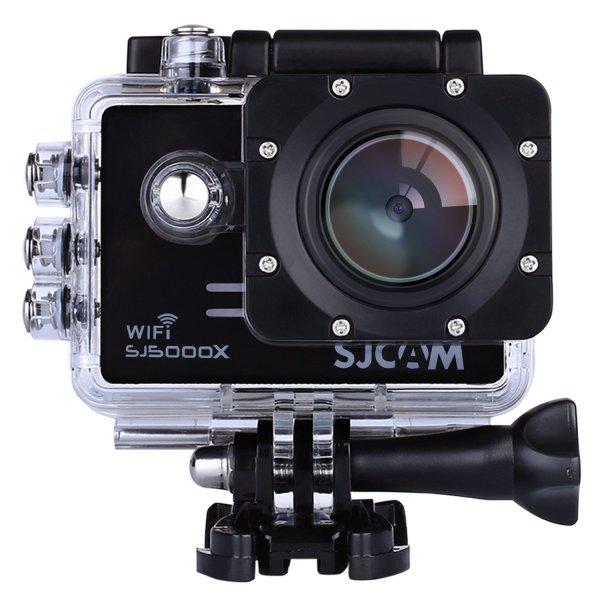 Sport Action Cam SJCAM SJ5000X, Full HD 4K, 1080P, 12MP, 170 ° Weitwinkel Objektiv mit Sony IMX078 Sensor Gyro, wasserdicht, WiFi, HDMI mit kostenlosem Zubehör für Helm (Tauchen/Fahrrad/Auto/DVR) @ amazon.de