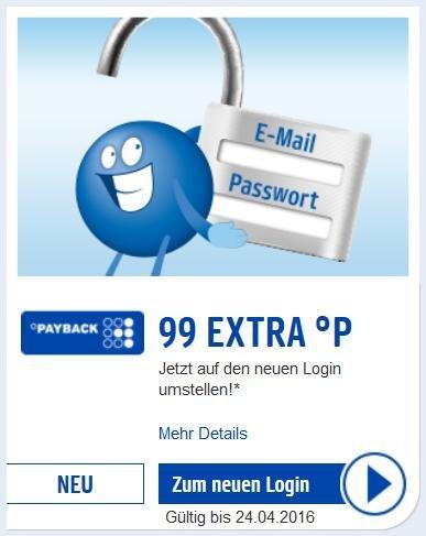[Payback] - Jetzt auf den neuen Login umstellen! - 99ct Gewinn