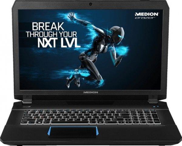 "Medion Erazer X7841 mit Core i7-6700HQ, 8GB RAM, 1TB HDD, 128GB SSD, GeForce GTX 970M, 17,3"" FHD-IPS matt, Win 10 für 1.269€ bei Medion.de"