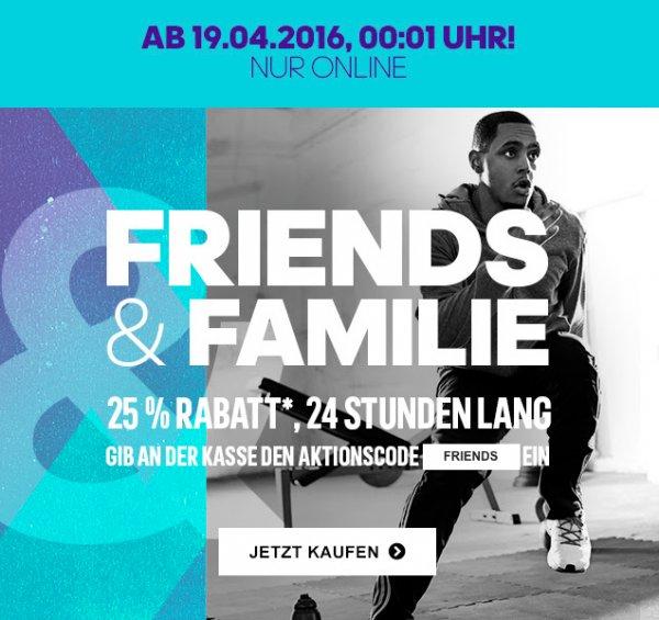 Family & Friends Aktion bei Adidas: 24h lang 25% Rabatt auf die aktuelle Kollektion, Outlet und mi Adidas *UPDATE*