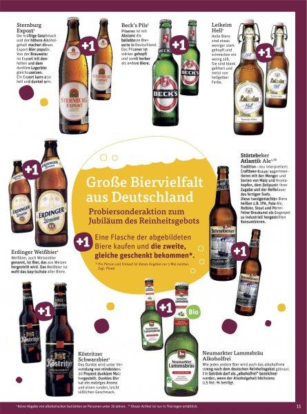 [tegut] Bier, diverse Sorten: 1 Flasche kaufen, 1 Flasche gratis