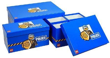 """[HANAU] Thalia: Lego - 3 Modular Storage Boxes """"Police"""" für 4,99€"""