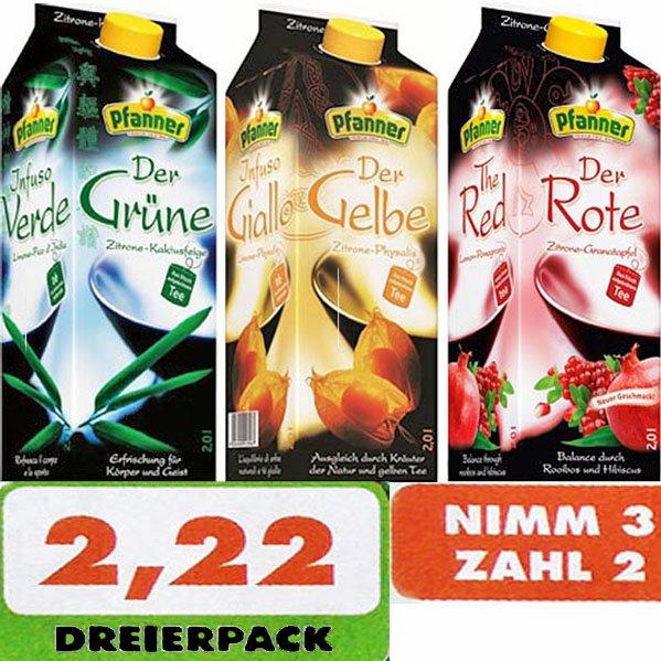 Pfanner Eistee mit dem '3 für 2 Angebot' nur 74 Cent bei [Trink&Spare]