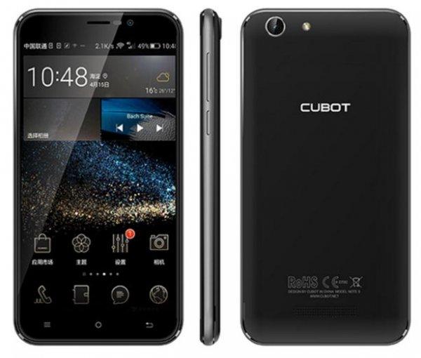"[Aliexpress] Cubot Note S (5,5"" HD, 1,3 GHz Quad, 2GB RAM, 4150mAh, Android 5.1) Versand aus DE"