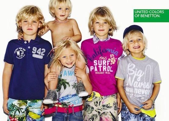 Aktion für Kindermode bei United Colors of Benetton - 10€ Rabatt beim Kauf von drei Teilen + 15% Newsletter Gutschein