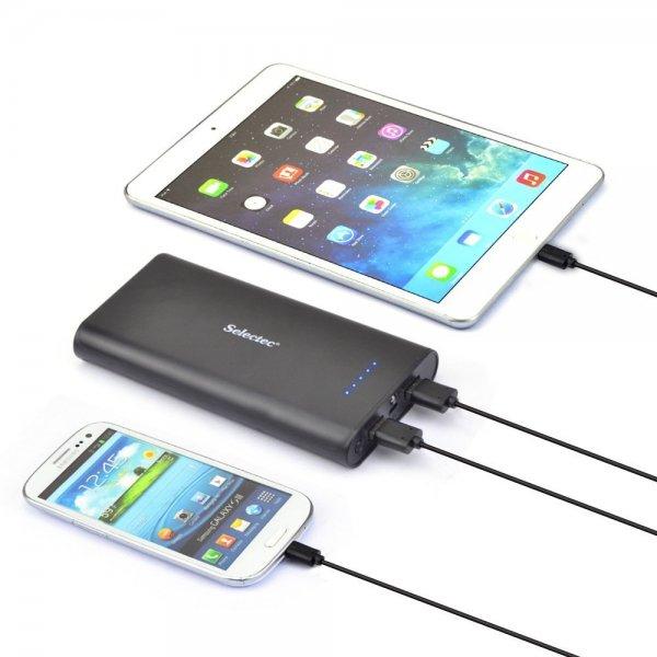 Powerbank Selectec 24000 mAh USB für 16,99 € (AMAZON.de)