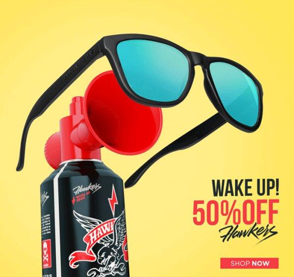 Hawkers Sonnenbrillen - 50% Rabatt bis Ende der Woche