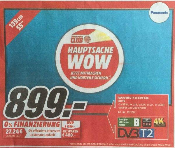 [LOKAL] Mediamarkt BO/CAS - Fernseher Panasonic TX-55CXW684 - Idealo 1068€