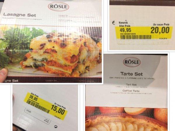 Rösle Lasagne Set 20€ und Tarte Set 15€ ca. 50% unter Idealo Preis [lokal Globus Hockenheim]