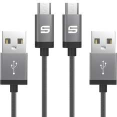 Micro USB Kabel [2-Pack, 2m] Syncwire USB Daten-/Ladekabel - 2m
