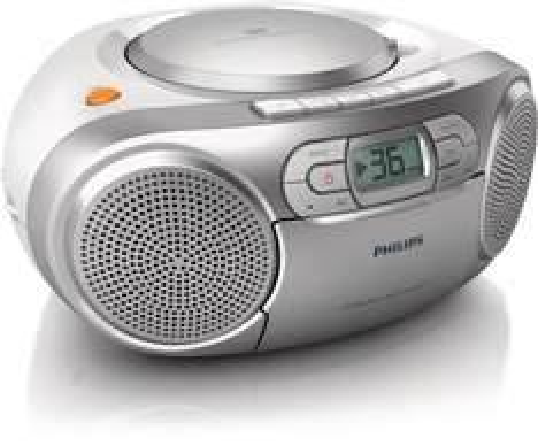 [Amazon] [WHD]  Philips AZ127/12 Soundmaschine (Dynamic Bass Boost, UKW-Tuner, 20 CD-Titel programmierbar, Kassetten-Deck) silber