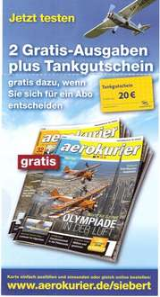 2 Ausgaben Aerokurier gratis [Kündigung erforderlich]