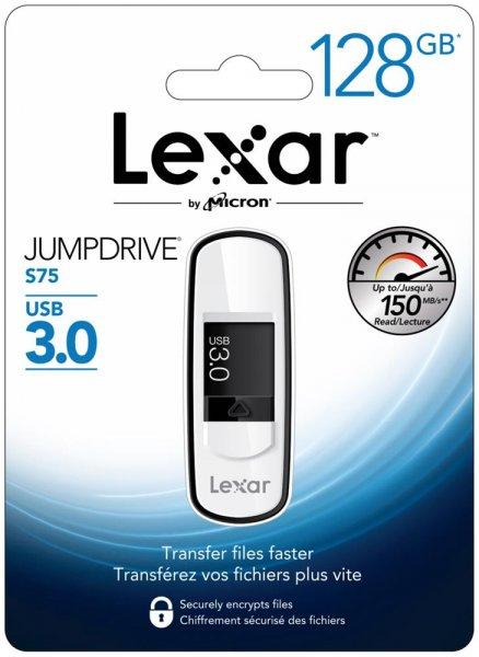 [Ebay] Lexar JumpDrive S75 - USB-Flash-Laufwerk,128GB,USB3.0,Schwarz (LJDS75-128ABEU) für 24,99€ ab ca. 08.00 Uhr