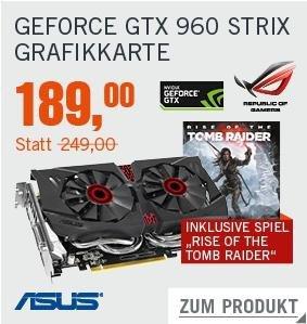Schnäppchen Cyberdeal bei Cyberport Asus Strix GTX 960