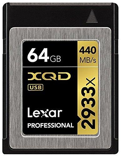 Amazon - Lexar Professional 2933x 64GB XQD 2.0 Card (Up to 440MB/s Read) für 101,22€