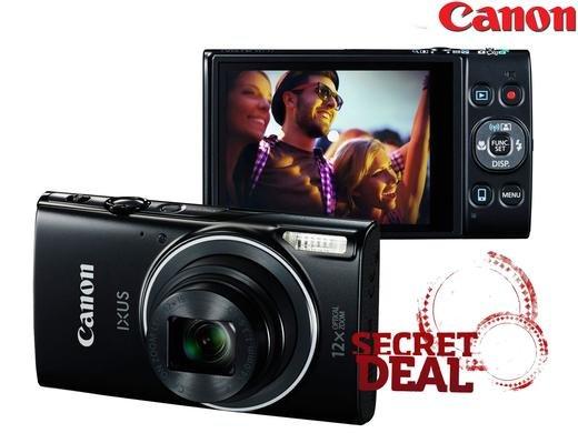 (iBood.de) Canon IXUS 275 HS Digitalkamera (20 Megapixel, 7.5 cm (3 Zoll) TFT-Display, Full HD, 12-fach optischer Zoom, WLAN, NFC) schwarz (ca. 25% unter idealo)