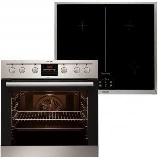 AEG Einbauherdset (Backofen + Glaskeramik-Induktions-Kochfeld) für 799 € inkl. Einbau in der Küche - PowerBoost, ThermiC°Air Heißluftsystem, Display, versenkbare Knebel [redcoon]