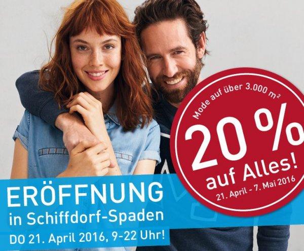 [Lokal Bremerhaven/Spaden] 20% auf alles bis 7 Mai Modepark Röther