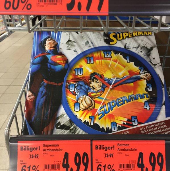 [Regional Kaufland Neukölln] Superman und Batman-Uhren