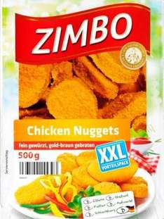 [PENNY] ZIMBO XXL-Chicken Nuggets - 500-g-Packung fuer 1,99€