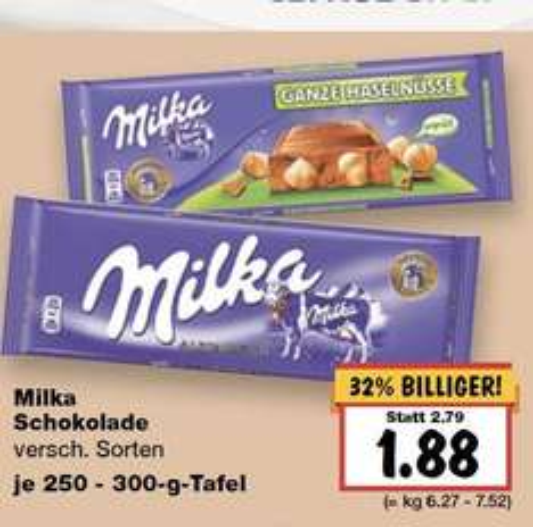 [Kaufland BW-evtl. Bundesweit] - 3x Milka Schokolade 250-300 Gramm für 3,64€