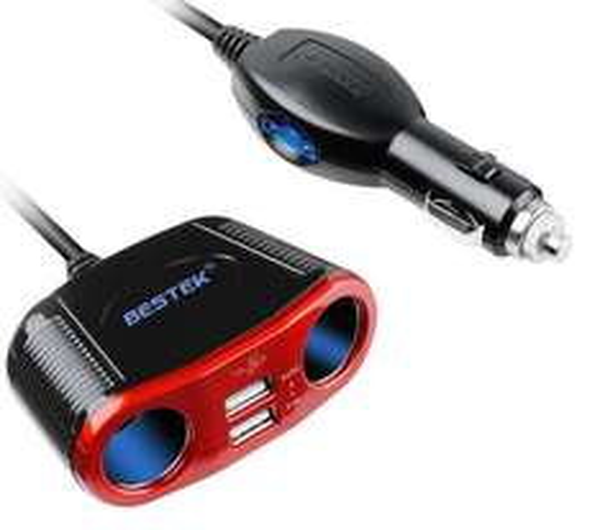 [Amazon Prime] BESTEK 150W Auto Zigarettenanzünder bzw. KFZ-Ladekabel mit Dual USB Ports