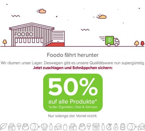 50% auf alle Lebensmittel bei FOODO.eu [Lokal Konstanz]