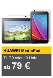 Huawei MediaPad T1 7.0 für 79€ oder 10 Link Plus Wi-Fi + 3G für 99€