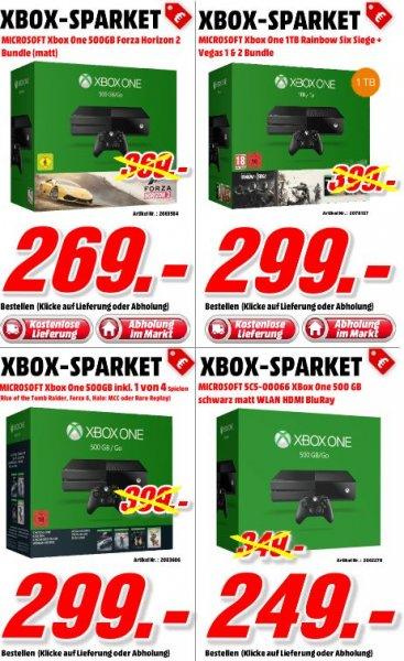 [Mediamarkt Porta Bundesweit....] Verschiedene XBox One Konsolen ab 249,-€.Z.B XB1 mit 1 TB inc. Rainbow Six Siege+Vegas 1&2 für 299,-€ Versandkostenfrei