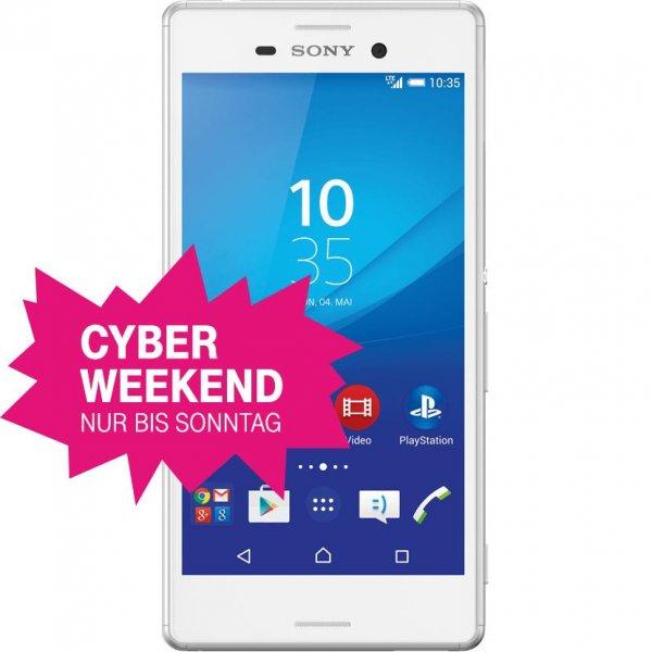 Telekom Cyber Weekend Sony Xperia M4 Aqua für 149€ statt Vergl.Preis 196,99€!! ? ? JBL Clip Bluetooth-Lautsprecher für 27,95€ ?  Samsung Galaxy A5 (2015) für 222€