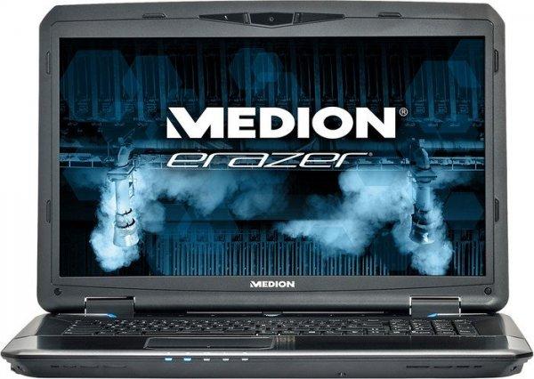 Medion Erazer X7833 mit Core i7-4710MQ, NVIDIA GTX 970M, 16GB RAM, 128GB SSD, 1TB HDD, Blu-Ray, 17,3 Zoll Full-HD matt, Windows 8.1 für 1.169€ bei Medion (+ 5% Qipu = 49,11€)