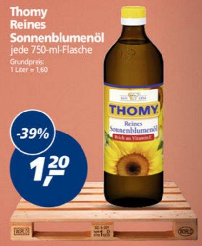 [Real] KW17: 5x Thomy Reines Sonnenblumenöl 750ml für 0,80€/Flasche (-52%)