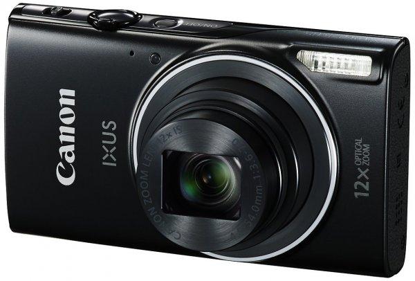 """[Amazon.it] Canon IXUS 275 HS Digitalkamera (20 MP, 3"""" TFT-Display, Full HD, 12x optischer Zoom, WLAN, NFC) schwarz und silber für 103,34 €"""