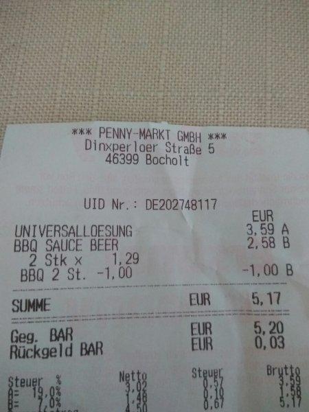 [Penny Bocholt] Bulls-Eye BBQ Saucen 235ml