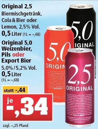 [Maiwanderung/Vatertag] Original 5,0 Pils/Export/Weizen oder 2,5 Dosenbier bei Thomas Philipps