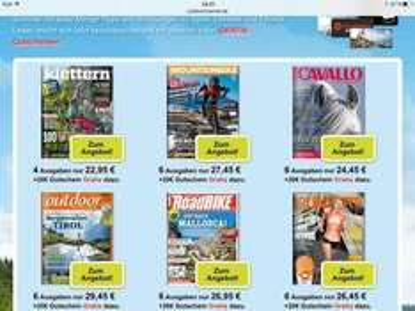 Div Abos 6 Ausgaben[+1] Outdoor, Mountainbike, Klettern, Roadbike cavallo, runners + 20€ Gutschein